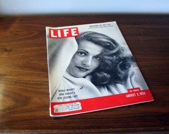 Life Magazine - August 3, 1953 - Mid Century Advertisements and Articles - 1950s- Nicole Maurey Bing Crosby's New Leading Lady Indochina