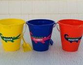 Personalized Alligator Pails, Personalized Beach/Sand Play, Party Favor, Vacation, Gift pail, Preppy
