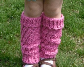 Girls Crochet Leg Warmers
