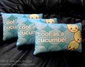 ON SALE cool as a cucumber pillow