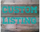 Custom Listing for You! Rosie Presas