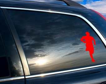 Men Runner silhouette Car sticker, Men runner silhouette car decal, Runner's silhouette