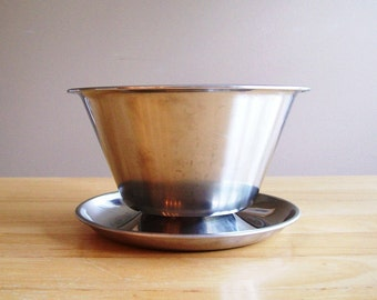 Mid Century Stainless Steel Gravy//Dip//Sauce// Serving Bowl by Leonard