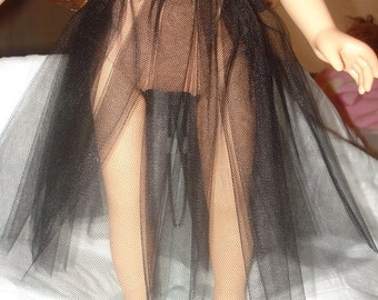Long Tulle net under skirt in black for 18 inch Girl Dolls - ag173