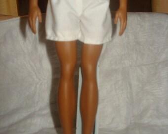 Handmade white swim shorts for Male Fashion Dolls - kdc21