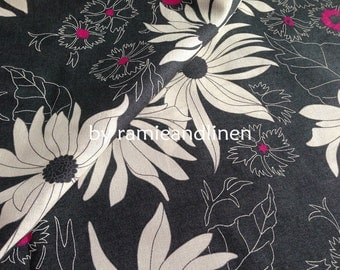 "Spirit - Japanese cotton fabric, floral print cotton fabric, half yard by 43"" wide"