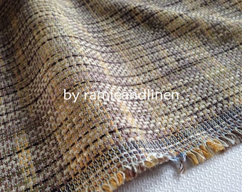 "cotton linen blend tweed fabric, fat quarter, 18"" by 28"""