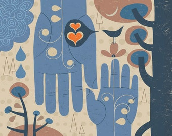 Holding Hands Giclee Print by Tracy Walker