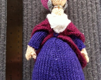 Trumpton knitted doll: Miss Lovelace with Mitzy, Daphne and Lulu