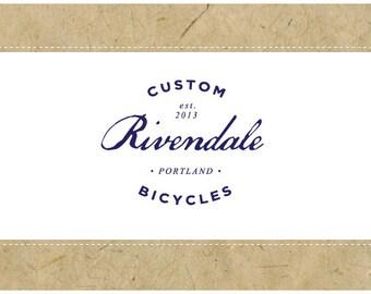 PreDesigned Logo - PreMade Logo - Vector Logo - RIVENDALE Logo Design - Vintage Logo - Vintage Branding