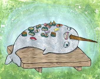 Narwhal Sushi Platter