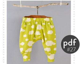 Kids harem pants sewing pattern // digital download // photo tutorial // sizes 0M-6T // #27