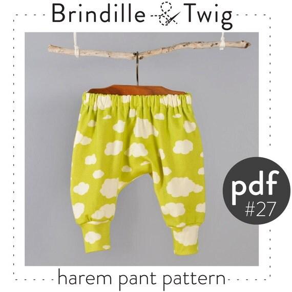 Kids harem pants sewing pattern digital download photo for Harem pants template