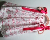 Pink Toile Nursery Rhyme Pillowcase Dress - Made to Order - Other Patterns Available - Handmade