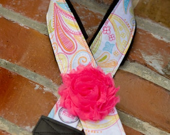 Camera Strap- Paisley Smoothie- Pink Flower