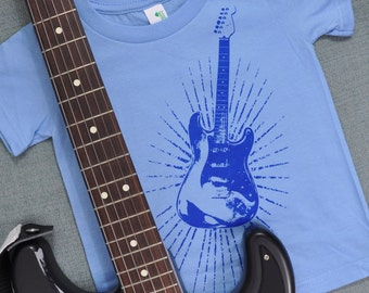 Stratburst Guitar Organic Cotton Shirt (2T)