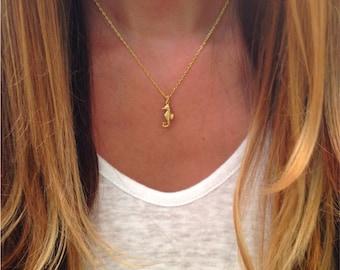 Tiny Seahorse Necklace