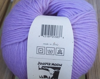 WORSTED Weight  Yarn - Mystic - 100g / 202 yards Merino Baby Alpaca - Juniper Moon Farm Chadwick - Soft Lavender Wisteria