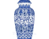 Blue and White Chinoiserie Ginger Jar Giclee