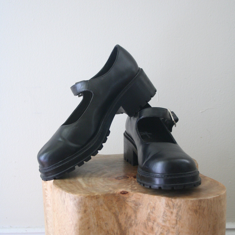 Chunky Heel Mary Janes