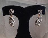 Vintage Featherlite Bubblelite Japanese Clip-on Earrings Rare Beauty
