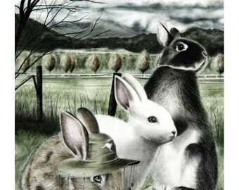 12x16 Illustration Print - 'Jumping Jacks'