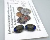 American Trade Bead - Hawaii - Milled earring set. Solid boro glass lampwork.