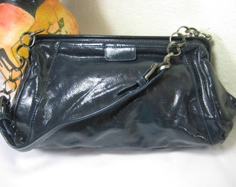 Vintage Marni Glossy Leather  Medium Shoulder Bag Italy