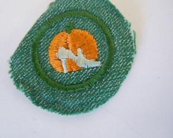 Girl Scout Good Grooming Badge 1948-1955 Pumpkin Halloween
