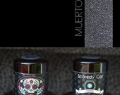 Loose Pigment Eye Shadow - Gunmetal Gray Grey Eyeshadow - Vegan  - Scaredy Cat - MUERTOS - 5 mL Sifter