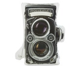 Vintage Rolleiflex Camera Printed Pillow