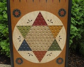 Reserved Listing for  Matt - Primitive Wood Chinese Checkers Game Board Folk Art Gameboard