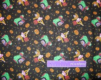 Sesame Street Elmo Halloween Zoe Abby Cadabby Cotton Fabric By The Half Yard
