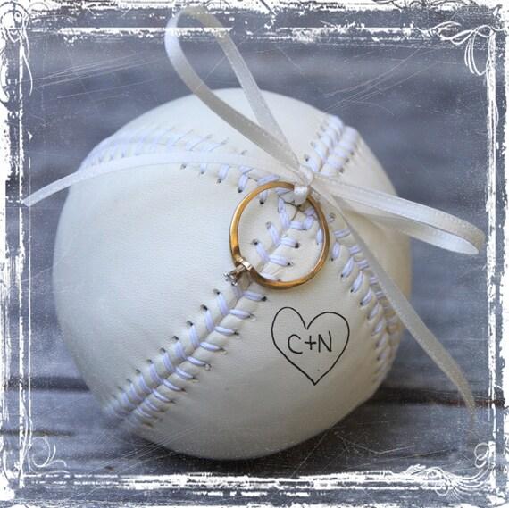 Baseball Ring Bearer Pillow Alternative By Sparkleandposy