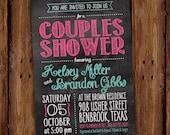 Chalkboard Couples Shower Invitation - Printable File or Printed Invitations