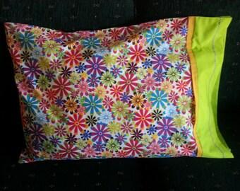 Bright Multi Color Flowers Pillowcase