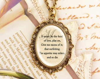 Music - Fancy Literature Necklace
