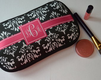 Personalized Womens Monogram Makeup/ Cosmetic Bag - Design your Own- Bridesmaid Gifts