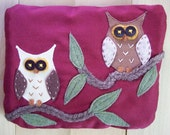 Owl and Friend, Large Pouch