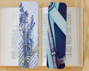 Photo Bookmarks, Bookmark Set, Shabby Chic Bookmarks, Book Lover Gift Idea, Pretty Bookmark Set, Teacher Gift Idea, Unique Bookmarks