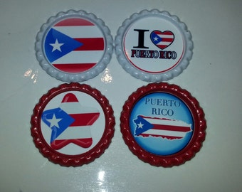 Puerto Rican Pride Bottle Caps