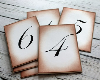 Customized Vintage Inspired Table Number Card