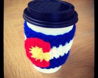 Colorado Flag Cup Cozy