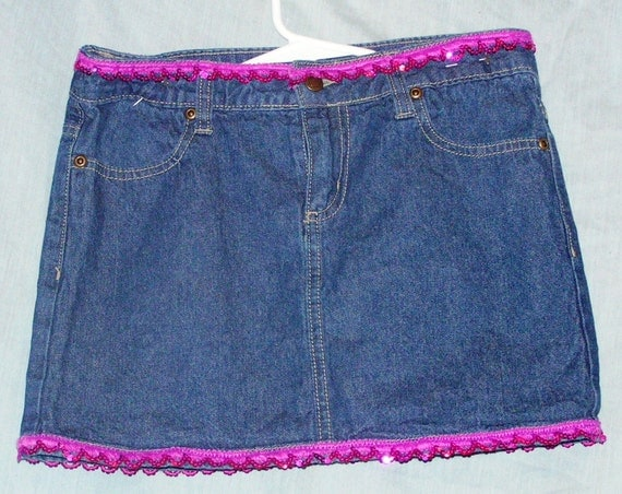 bobby size 12 denim skirt by peachiepockets