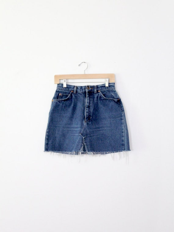 vintage High Waisted denim skirt / Lee jean skirt