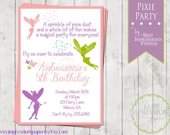 Pixie Party - A Customizable Birthday Party Invitation