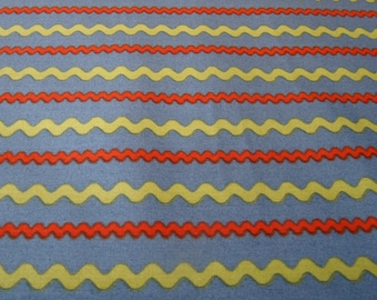 SALE Stripes, Ric Rac Rabbits Collection by Andover Fabrics 1/2 yd