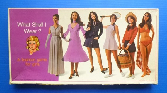 "1969 RARE ""What Shall I Wear"" board game by Selcrow and Righter Co."