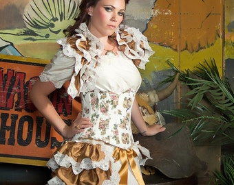 Silk Steampunk Wedding Opera Shrug Burlesque  Bridal By Gothic Burlesque