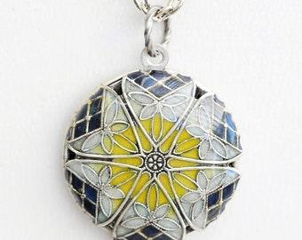 Locket, Silver Locket,Blue,Yellow,White, Locket,filigree locket necklace,photo locket ,vintage locket,Wedding Necklace,bridesmaid necklace